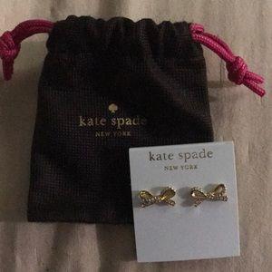 Brand new Kate Spade 14k gold fill Rhinestone Bow